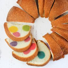 This Surprise-Inside Dotty Cake is SO easy and really will bring a smile to everyone's face when you slice it open.