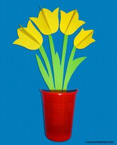 Lavoretto Festa della Mamma   Vaso con i fiori