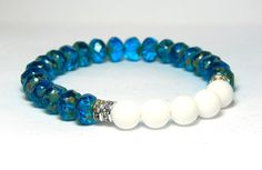 Capri Blue and White Bracelet