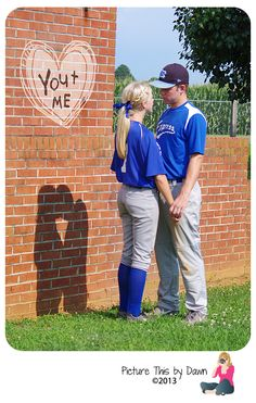 Softball & Baseball couples session. Want to see more? https://www.facebook.com/picturethisbydawn