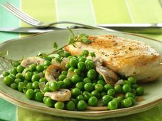 Betty Crocker's Heart Healthy Cookbook shares a recipe! This French country-style peas and onions recipe makes a quick and easy side dish that's ready in merely 5 minutes! Great to serve with chicken dishes.