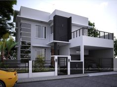 New Home Exterior Design Front Elevation 48 Ideas Zen House Design, 2 Storey House Design, House Front Design, Model House Plan, My House Plans, Two Storey House Plans, House Paint Exterior, Exterior Design, Philippines House Design
