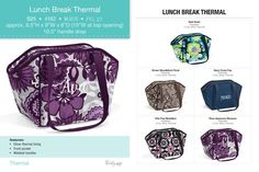 Lunch Break Thermal, If you are interested in any of these amazing products from Thirty-One, please just contact me!! https://www.mythirtyone.com/elizabethbagwell/