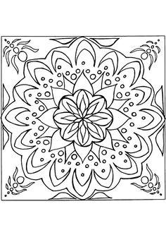 Un mandala donnant une jolie impression de mouvement, à colorier