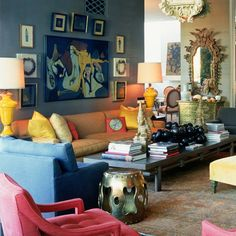 Kelly Wearstler's ability to combine colors, textures, and styles is so inspiring.