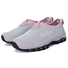 Off] Women Breathable Mesh Soft Sole Light Outdoor Sport Shoes Athletic Fashion, Athletic Shoes, Workout Shoes, Luxury Shoes, Types Of Shoes, Comfortable Shoes, Shoes Online, Casual Shoes, Women's Shoes