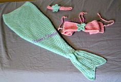 Crochet mermaid set. Made to order photography props.