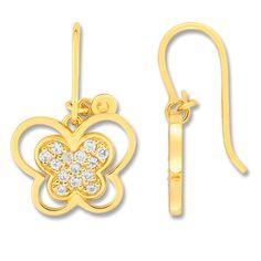 Cacharel 18k Gold-plated Butterfly Earrings