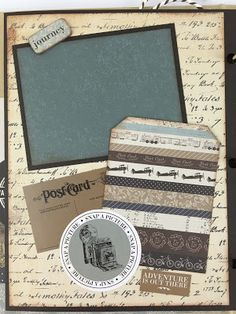 Artsy Albums Mini Album and Page Layout Kits and Custom Designed Scrapbooks by Traci Penrod: Vintage Travel Mini Album Scrapbook with Carta Bella Old World Travel
