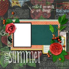 "Copper Blossom Paperie: Freebie Friday - 12""x12"" Summer Scrapbook Quick Pa..."