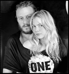 Heath Ledger + Michelle Williams photographed by Helena Christensen for the ONE campaign