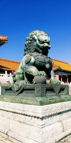 Chinese Lion Jade Statue #Flickr #Photography