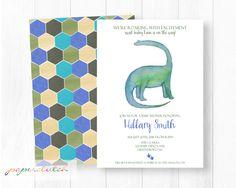 Dinosaur Baby Shower Invitation  Dino by PaperclutchShop on Etsy