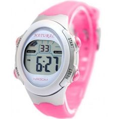DW327I Light Gray Watchcase Chronograph Date BackLight White Bezel Digital Watch