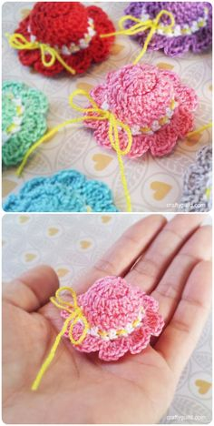 Crochet Mini Baby Shower Favors with Free Patterns--Crochet a Mini Sun Hat with free Pattern (Video)