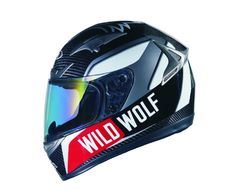 wolf style sport motorcycle gear | Shiro SH-335 Wild Wolf Carbono Motorcycle Helmet, SH-335 ...