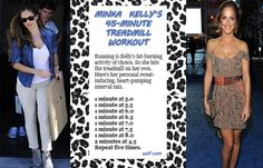 Minka Kelly's 45-Minute calorie-blasting treadmill workout. Intervals help your body burn fat fast!
