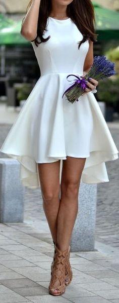 Elegant Hi Lo Skater Dress ❤︎ #lwd