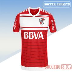 Latest River Plate White/Red 2016 2017 Away Soccer Jersey Replica Bargain From China