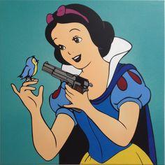 FAKE: Sing little bird sing, Spraypaint on canvas Edition of 4 / 60× 60cm / http://shop.prettyportal.de/collections/frontpage/products/fake-sing-little-bird-sing-1