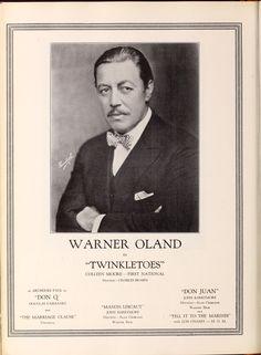 Warner Brothers studios - Motion Picture News (Sep - Oct 1926) - Warner Oland