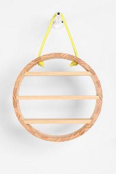 Hanging Rope Circle Shelf