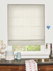 Grande Stripe Linen Roman Blind  83.5cm width x 85cm drop blind recess fitting   Standard Lining £55.36