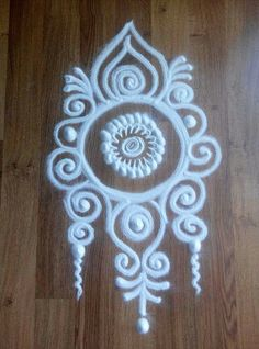 Kolam Indian Rangoli Designs, Simple Rangoli Designs Images, Rangoli Designs Flower, Rangoli Border Designs, Colorful Rangoli Designs, Beautiful Rangoli Designs, Simple Rangoli Kolam, Rangoli Ideas, Free Hand Rangoli Design