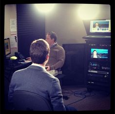 Behind the scenes in our new on-site broadcast studio. #MontereyInstitute #OnAir #FindAnExpert