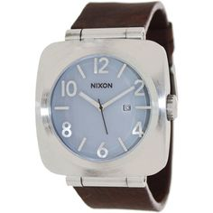 Nixon Men's Volta A117100-00 Brown Leather Quartz Watch with White Dial
