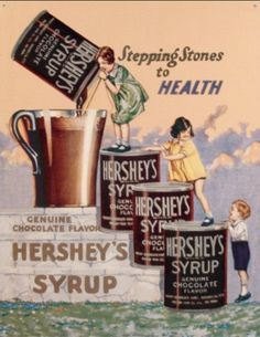 Great vintage ad from Hersey's promoting the health benefits of chocolate.