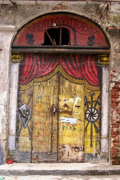 Love the charming entrance to Teatro Vittorio - Palermo, Sicily, Italy