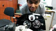 Ayush with his custom-made dashboard for FWı