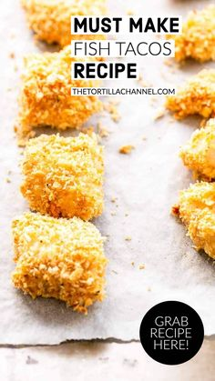 These fish tacos are amazing. Made with firm white fish like cod or tilapia filet. Baked in the oven with a Panko crust. Difficult Recipe, Fish Taco Sauce, How To Make Fish, Mexican Dinner Recipes, Fusion Food, Taco Soup, Fish Tacos, Tilapia, Taco Seasoning