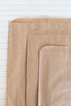 Lovely kraft brown paper gift bags make a wonderful simple treat bag, or use them for your own product packaging. These are less like a grocery bag feel and more of a soft, lightweight kraft butcher p