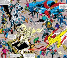 The Avengers & New Warriors vs Sons of the Serpent