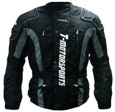 TMS Mens Enduro Armor Jacket Motorcycle Touring Dual Sport Dirt Bike ATV (X-Large, Black)