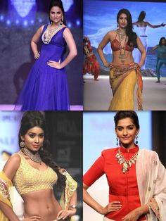 India International Jewelery Week is currently being held in Delhi and the first day we saw a number of Bollywood lovelies making their presence on the ramp! Who's your favorite?    Top: Lara Dutta, Ankita Shorey  Bottom: Shriya Saran, Sonam Kapoor
