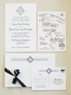 Lovely wedding invitations with a vintage twist.