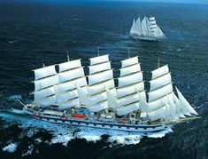 Cosas únicas : Royal Clipper, El mayor velero del mundo Royal Clipper, Fleet Of Ships, Sail Away, Submarines, In The Tree, Tall Ships, Sailing Ships, Lighthouse, Transportation