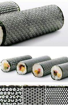 laser cut nori seaweed sheets for sushi rolls..