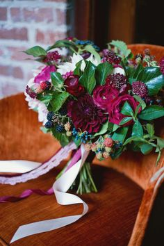 Fall berry color wedding inspiration at The Carondelet House | Photo by Tina Chiou Photography | Read more - http://www.100layercake.com/blog/?p=81083