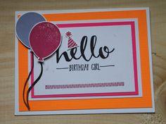 Hello Birthday Handmade Card by CreateByCait on Etsy