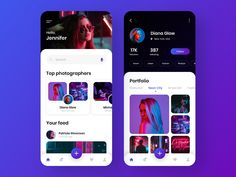 Social network for photographers - Mobile App designed by Anastasia. Connect with them on Dribbble; the global community for designers and creative professionals. Mobile App Ui, Mobile App Design, Motion Design, Ux Design, Graphic Design, Design Thinking, Apps, Anastasia, Music App