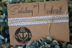 Einladung Hochzeit Vintage Maritim inkl Druck 30 x von Majalino auf DaWanda.com