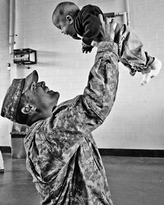 Soldier with a baby