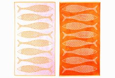 Stephen Haskell Fish Towel, Orange on One Kings Lane today
