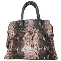 6a4e31ff5a Preowned Giorgio's Of Palm Beach Pastel Python Tote Bag ($2,300) ❤ liked on  Polyvore