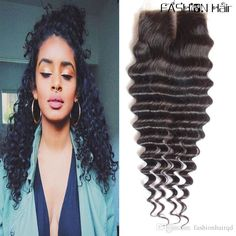 deep wave lace closure FROM fashionhairqd#