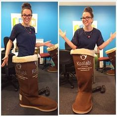 Giant boot hanging out with the TVSN Team #koalabi #tvsn #koalabigiantboot